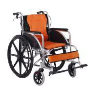 雅德 可折叠 带前后手刹 铝合金轮椅车YC6200
